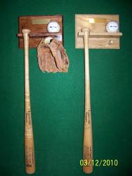 BASEBALL BAT AND BALL RACK, ball, bat and glove  BB 114 a fun display to own