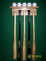 BASEBALL BAT AND BALL DISPLAY,5 Bats & 5 Balls Display BB505