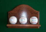 3 Baseball Wall Holder Display WBC 204