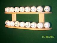 BASEBALL DISPLAY, 18 Ball Wall Mount Display   WBC 218