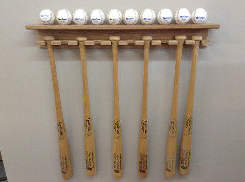 VERY NICE 10 BAT AND 10 BALL DISPLAY