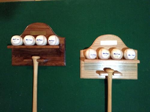 Bat and Baseball Wall Display BB104