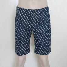Men's Linen Shorts Regular Fit Blue