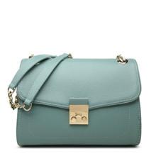 Women's Blue Leather Shoulder Bag Cross Body Bag