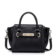 Women's Leather Shoulder Bag Black