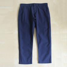 Men's Cropped Pants Seersucker Fabric Navy Blue Size 30 31 32 34 36