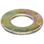 "(2000) 1/2"" SAE Flat Washers - Yellow Zinc (THRU-HARDENED)"