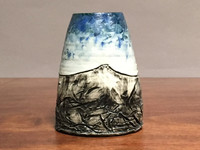 Mountain Vase, roughly 6.25 inches tall by 5 inches wide