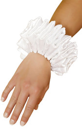 Ruffled wrist cuffs. Sold as a pair.