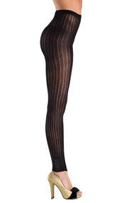 Footless knitted pantyhose with button design cuffs.