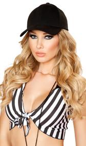 Baseball style costume hat.