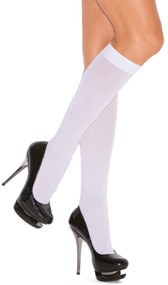Opaque knee high stocking.