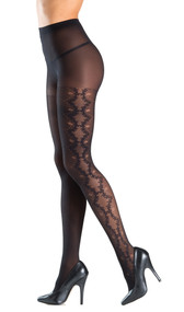 Side stretch design sheer tights.