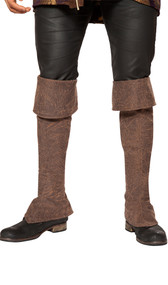 "Tall pirate boot covers with zipper back. Measure about 38"" tall with top not folded down. Can be folded down to fit your height. Pair."