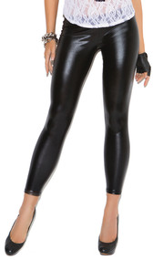 Liquid wet look leggings.