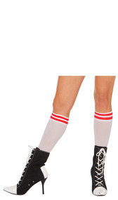 Athletic style Nylon knee sock.
