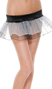 Petticoat features a classic two-tone, black and white mesh color combination.