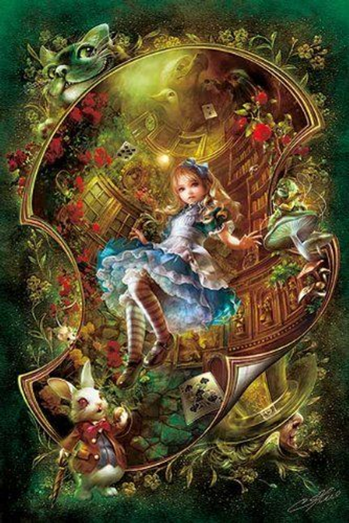 APPLEOne Jigsaw Puzzle 1000-660 Alice In Wonderland (1000 Pieces)