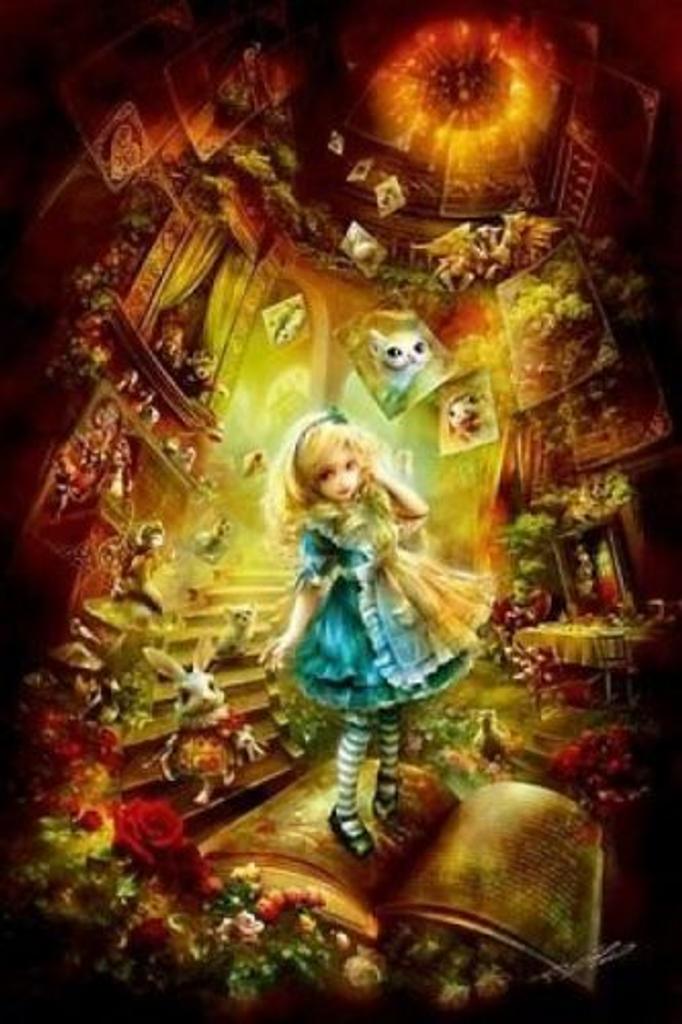 APPLEOne Jigsaw Puzzle 300-274 Alice In Wonderland (300 Pieces)