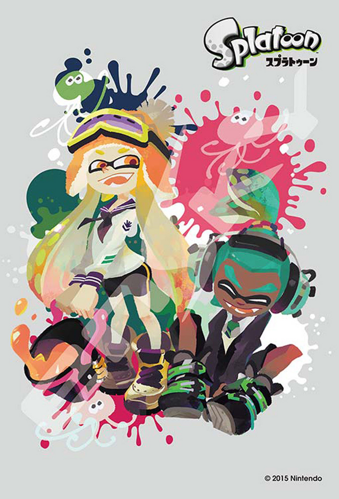 Ensky Jigsaw Puzzle 70-m37 Splatoon Boy and Girl Part 1 (70 Small Pieces)