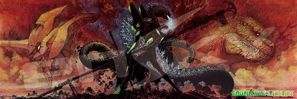 Ensky Jigsaw Puzzle 950-42 Godzilla vs Evangelion Mythology of Guren (950 Pcs)