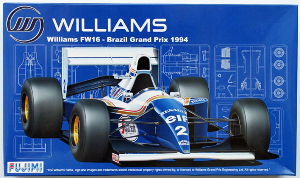 Fujimi GP18 090597 F1 Williams FW16 Brazil GP 1994 1/20 Scale Kit