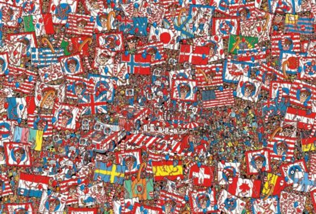 Beverly Jigsaw Puzzle 31-444 Where's Wally? Big Party (1000 Pieces)