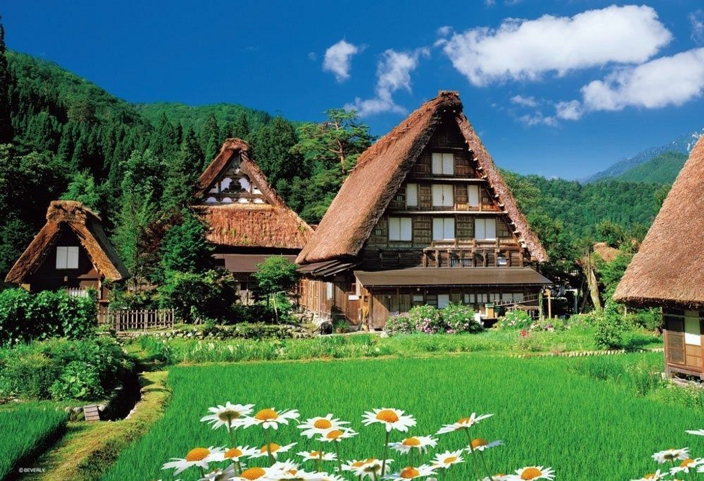 Beverly Jigsaw Puzzle 33-092 Japanese Scenery Shirakawa-go (300 Pieces)