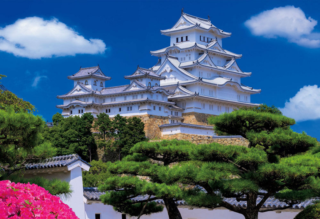 Beverly Jigsaw Puzzle 33-098 Japanese Scenery Himeji Castle (300 Pieces)