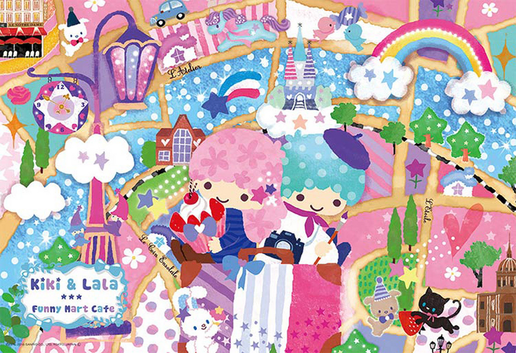 Beverly Jigsaw Puzzle 33-121 Twin Stars Kiki & Lala Fantasy Travel (300 Pieces)