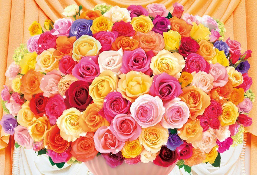 Beverly Jigsaw Puzzle 93-105 Flower Art Colorful Roses (300 Pieces)