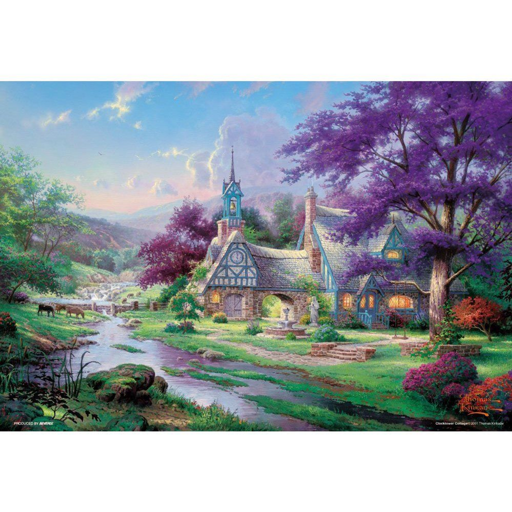 Beverly Jigsaw Puzzle M81-825 Thomas Kinkade Clock Tower Cottage (1000 S-Pieces)