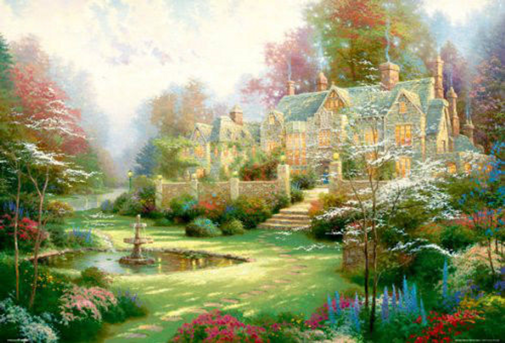 Beverly Jigsaw Puzzle S62-516 Thomas Kinkade Garden in Spring (2000 S-Pieces)