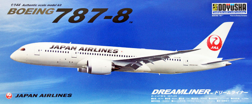 Doyusha 420454 JAL Japan Airlines Boeing 787-8 Dreamliner 1/144 Scale Kit