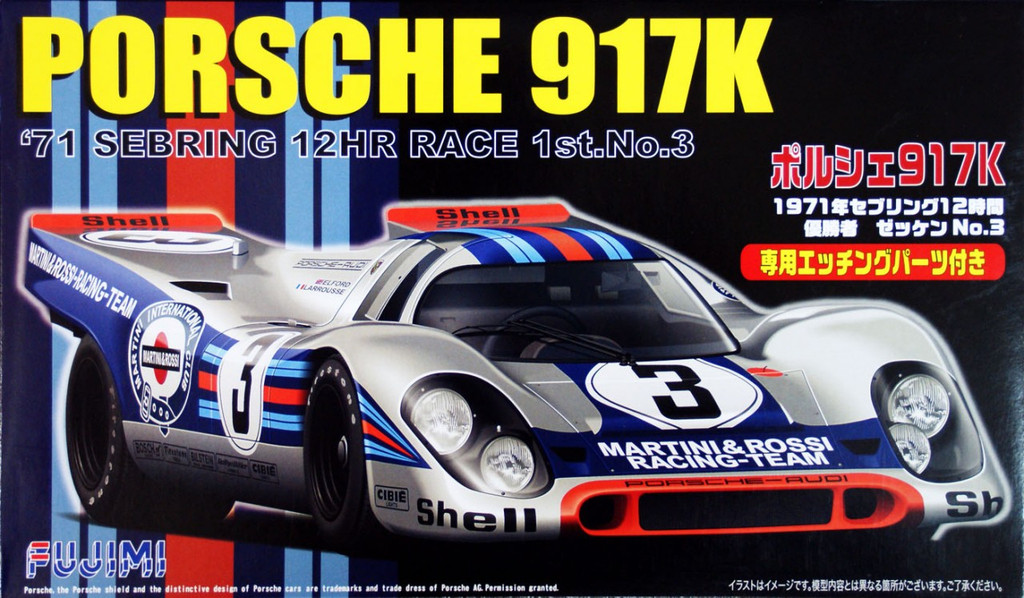 Fujimi RS-84 Porsche 917K 1971 Sebring 12HR Race 1/24 Scale Kit
