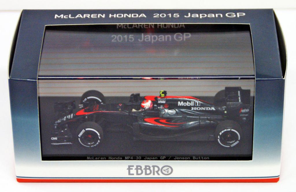 Ebbro 45329 McLaren Honda MP4-30 Japan GP No.22 Jenson Button 1/43 Scale