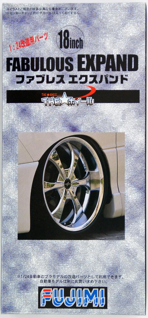 Fujimi TW37 Fabulous Expand Wheel & Tire Set 18 inch 1/24 Scale Kit