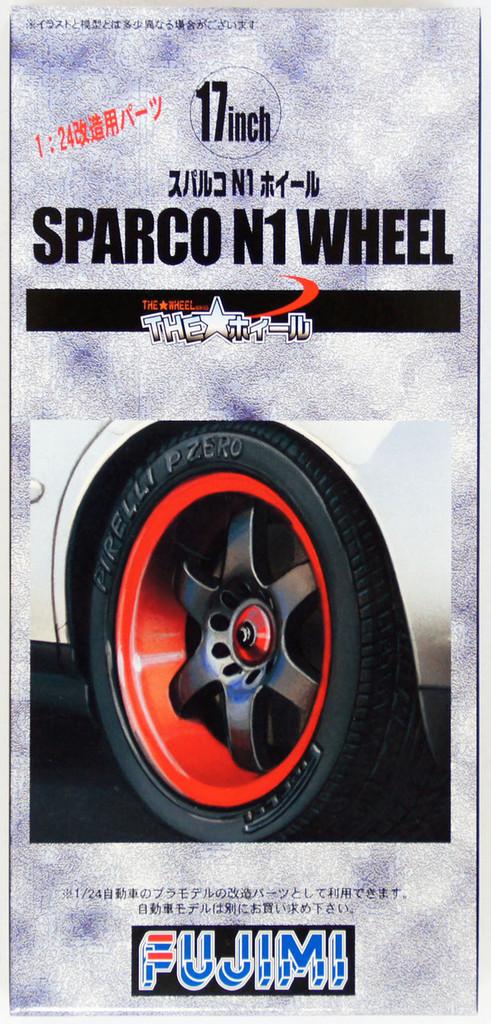 Fujimi TW58 Sparco N1 Wheel & Tire Set 17 inch 1/24 Scale Kit