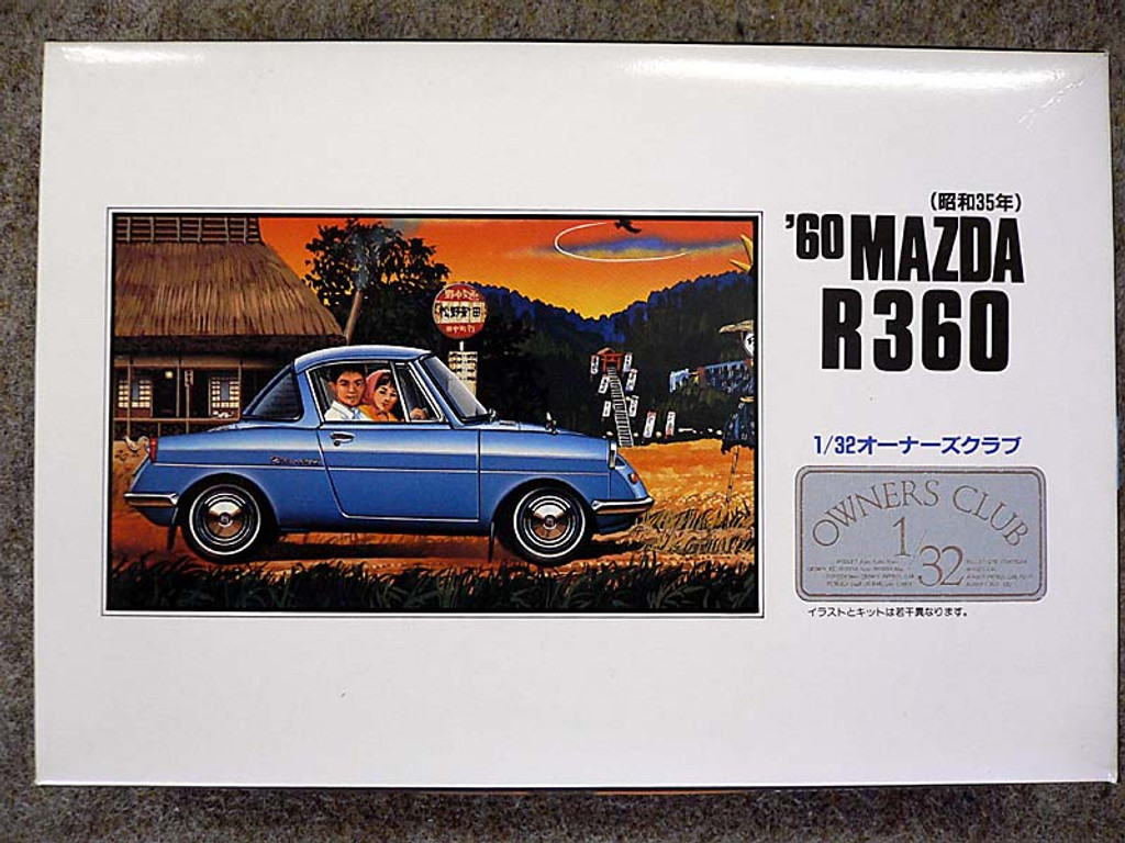 Arii Owners Club 1/32 15 1960 MAZDA R360 1/32 Scale Kit (Microace)