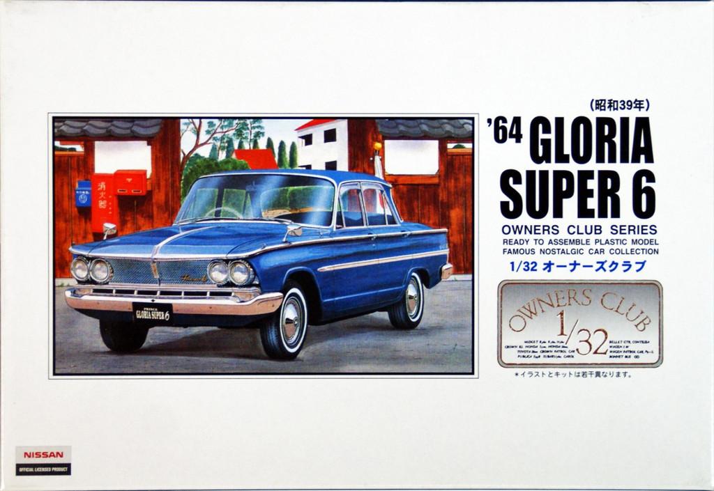 Arii Owners Club 1/32 28 1964 Gloria Super 6 1/32 Scale Kit (Microace)