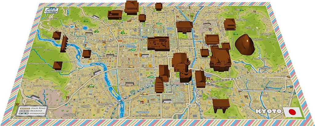 Ensky 4D Jigsaw Puzzle 4Dm-02 Cityscape Time Puzzle Mini City KYOTO (137 Pieces)
