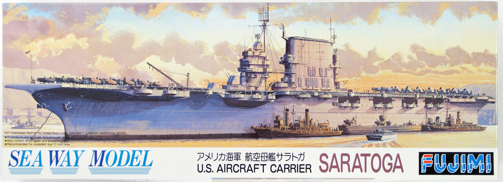 Fujimi SWM25 Aircraft Carrier CV-3 Saratoga 1/700 Scale Kit