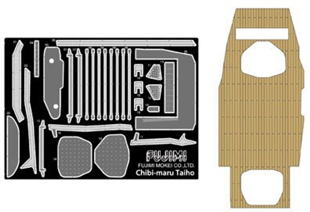 Fujimi TK 114958 Wooden Deck Parts for Chibi-maru Kantai Fleet Aircraftcarrier Taiho 4968728114958
