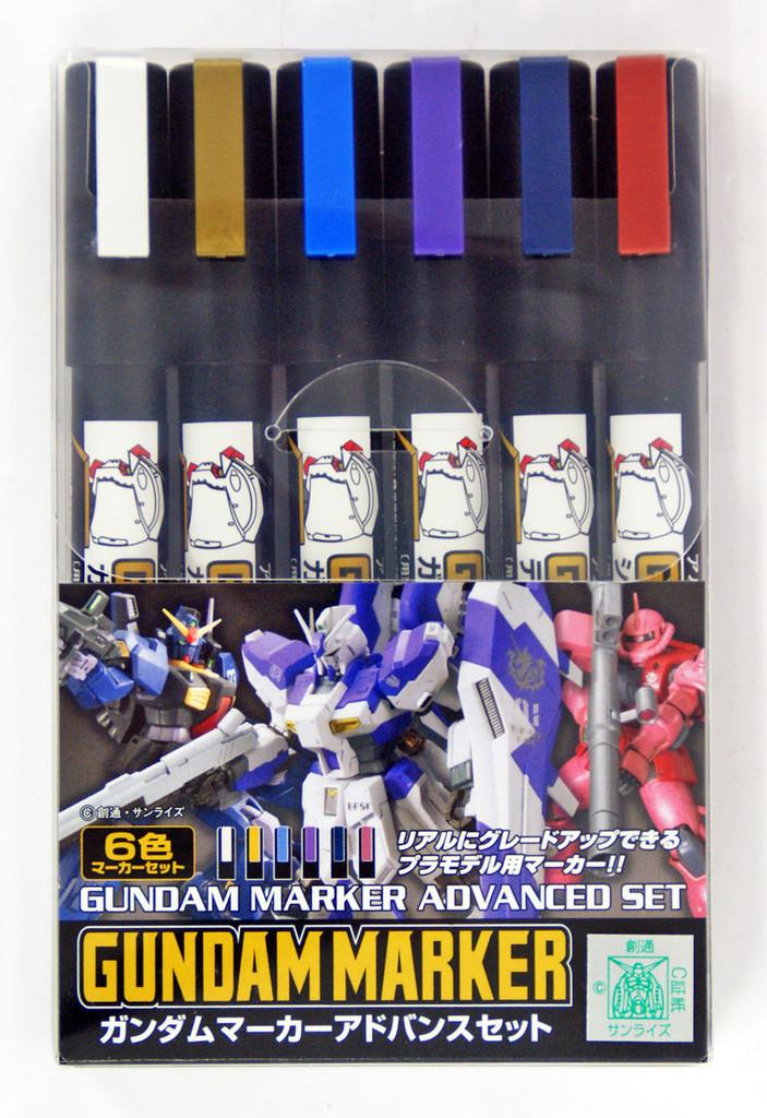 GSI Creos Mr.Hobby GMS124 Gundam Marker Advanced Set (6 Pen)