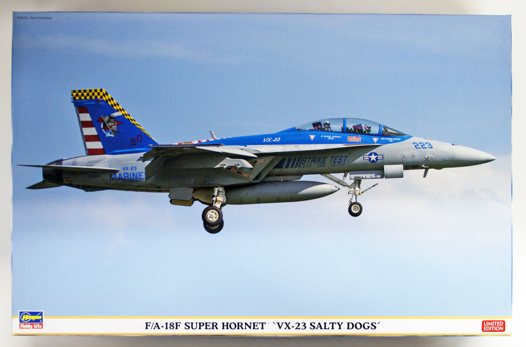 "Hasegawa 07450 F/A-18F Super Hornet ""VX-23 Salty Dogs"" 1/48 scale kit"