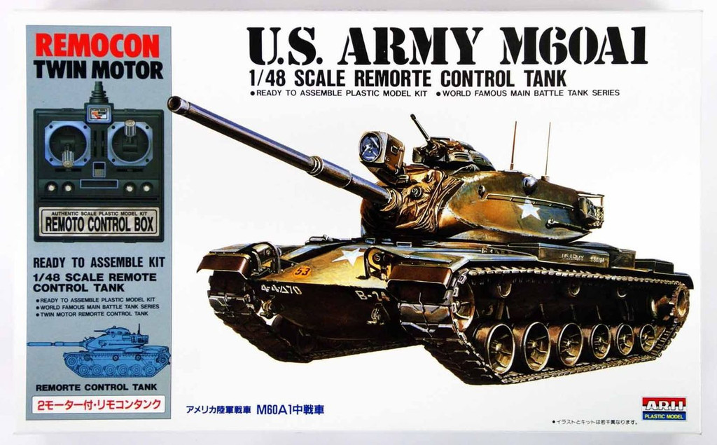 Arii 141519 U.S. Army M60A1 Remote Control Tank 1/48 Scale Kit