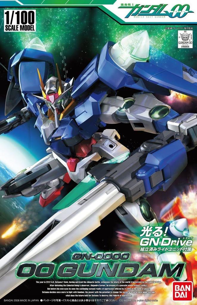 Bandai GUNDAM OO 569066 GN-0000 OO GUNDAM 1/100 Scale Kit