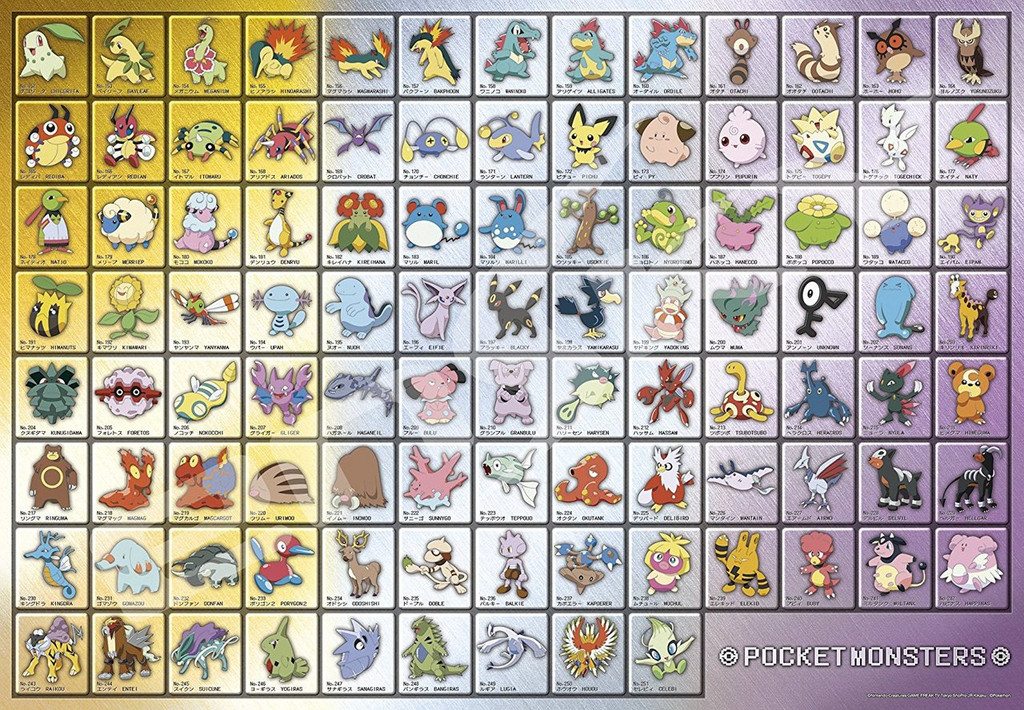 Ensky Jigsaw Puzzle 1000T-40 Pokemon Pokedex No.152-251 (1000 Pieces)