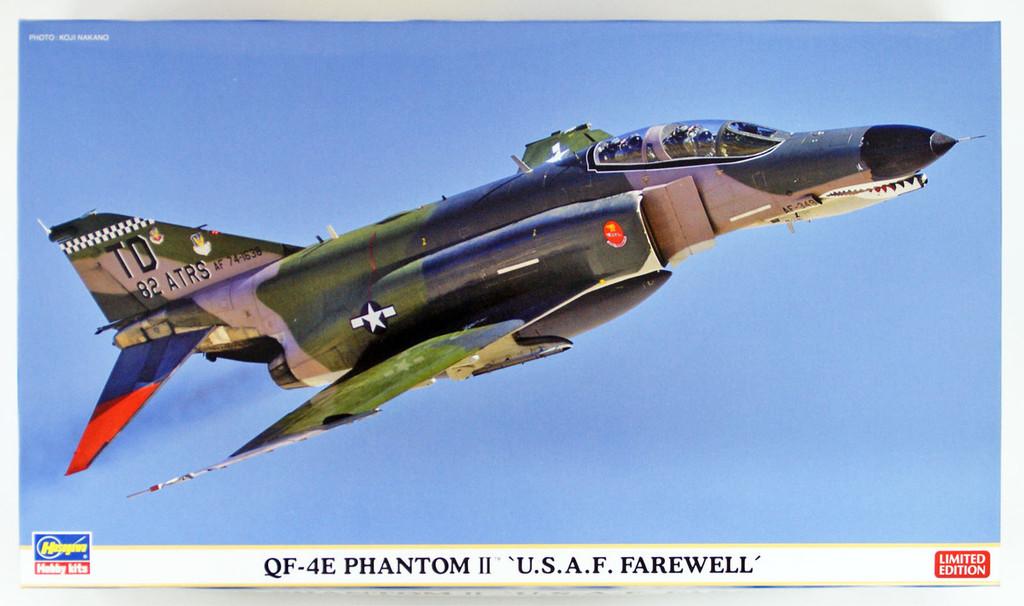 "Hasegawa 02238 QF-4E Phantom II ""U.S.A.F. Farewell"" 1/72 scale kit"