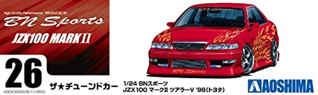 Aoshima 53577 BN Sports JZX 100 Mark II Tourer V '98  (Toyota) 1/24 scale kit